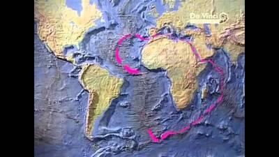 Литосферные плиты на карте мира.