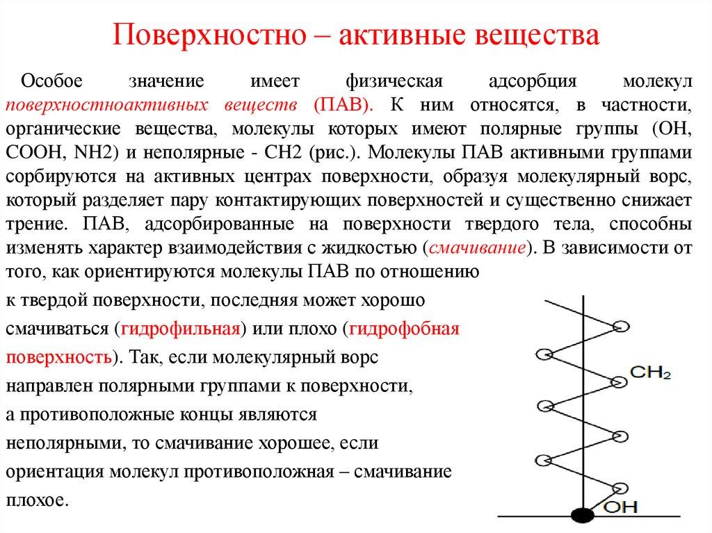 Классификация пав и основы их действия в составе смс: классификация пав