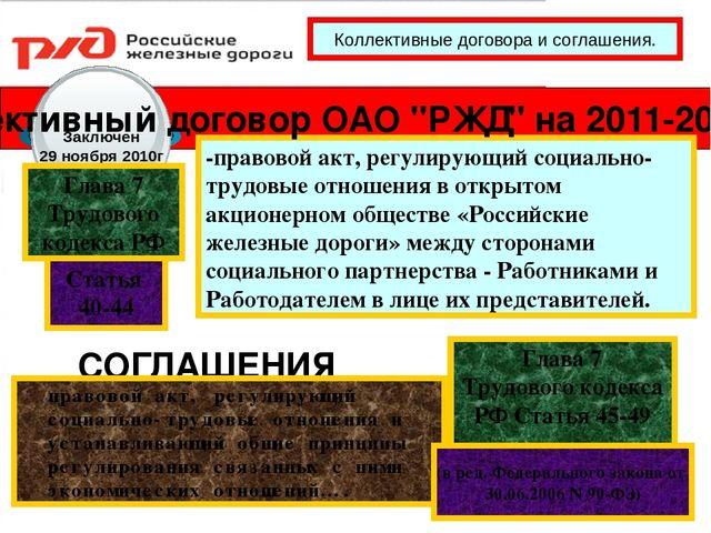 Стороны коллективного договора: понятие, функции, содержание и порядок заключения