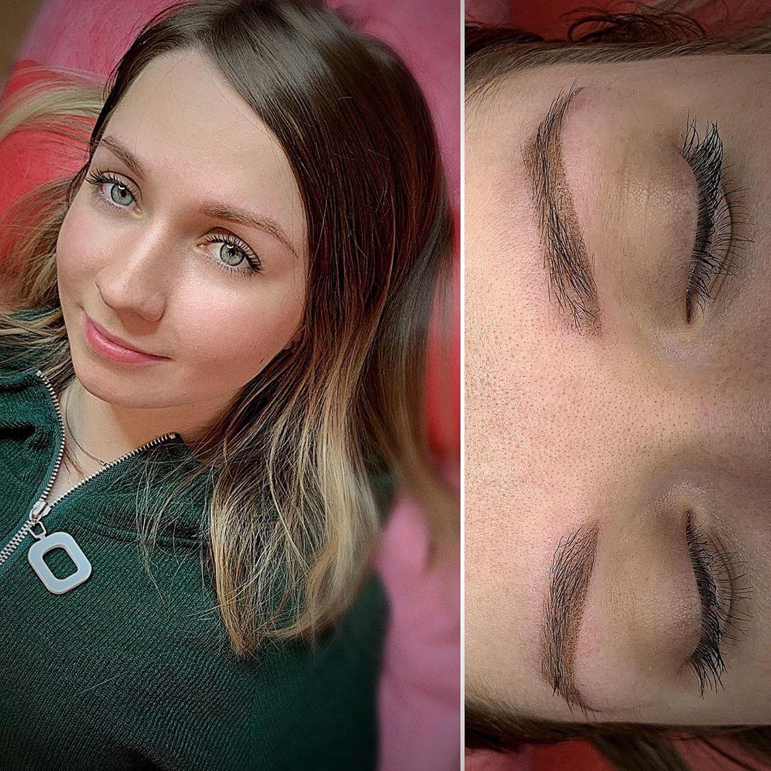 Пудровые брови, техника напыление: что это такое и как делают (фото до и после)
