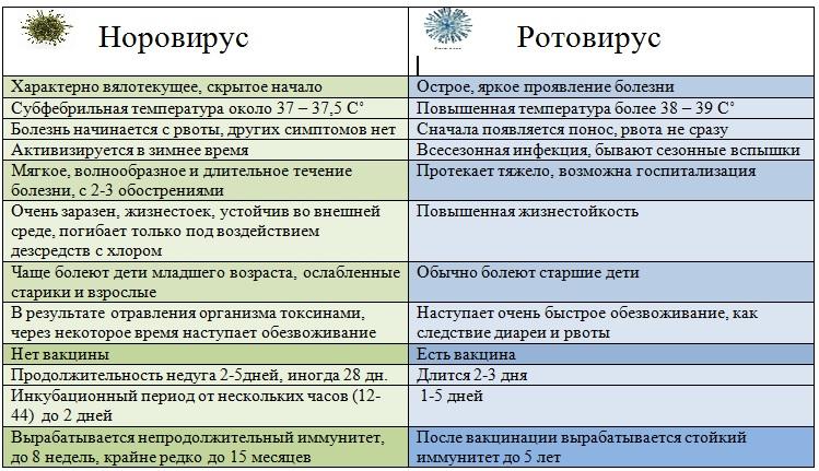 Норовирус и ротавирус: отличия и общие симптомы
