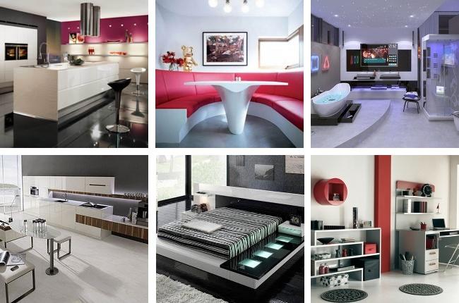 Стиль хай-тек в интерьере: особенности стиля + примеры дизайна