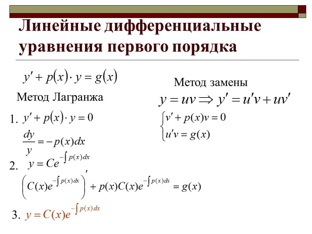 Методы решения дифференциальных уравнений