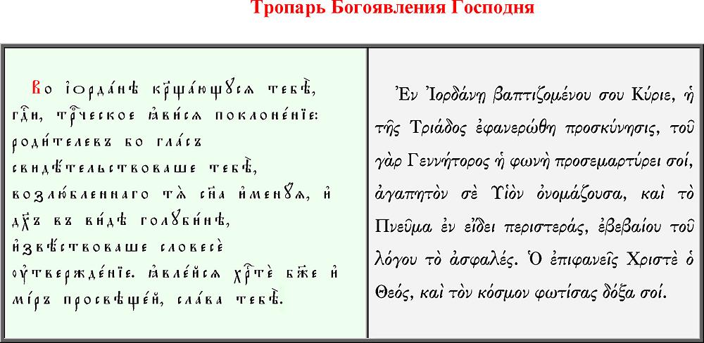 Что такое русские православные тропари по непорочных?
