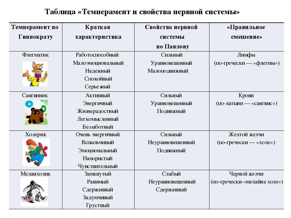 Виды темперамента человека - психологические типы личности | салид
