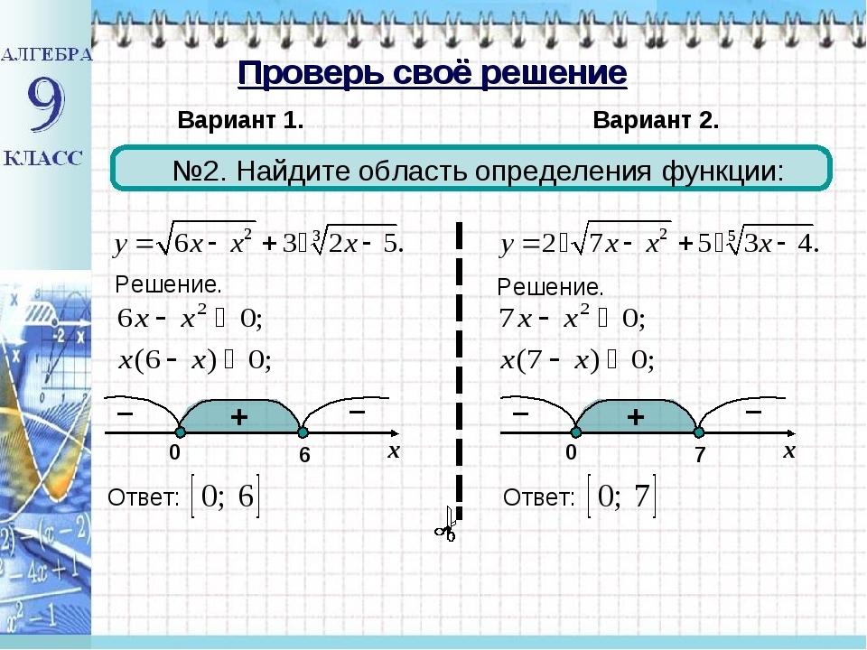 Как найти область определения функции?