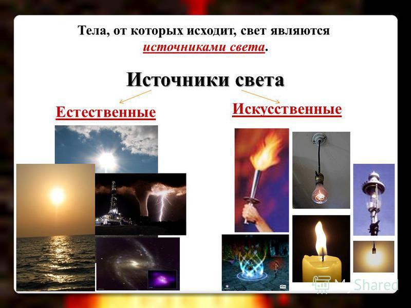 Источники света и какие они бывают