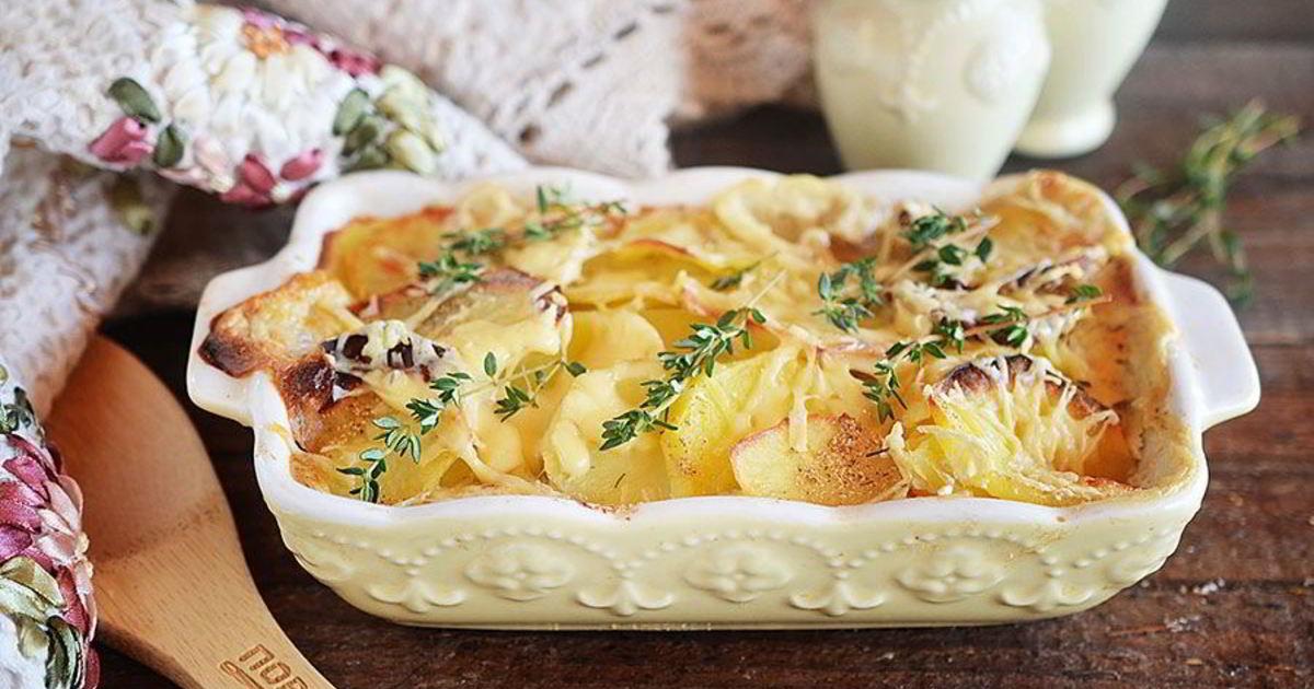 Картофельно-сырный гратен – кулинарный рецепт