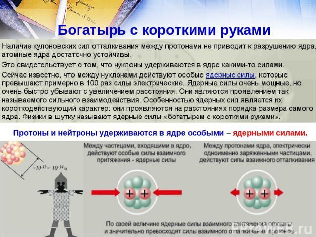 Ядерные силы: свойства. между какими частицами действуют ядерные силы?
