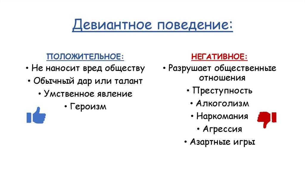 Девиация - отклонение от общепринятых норм - признаки и причины