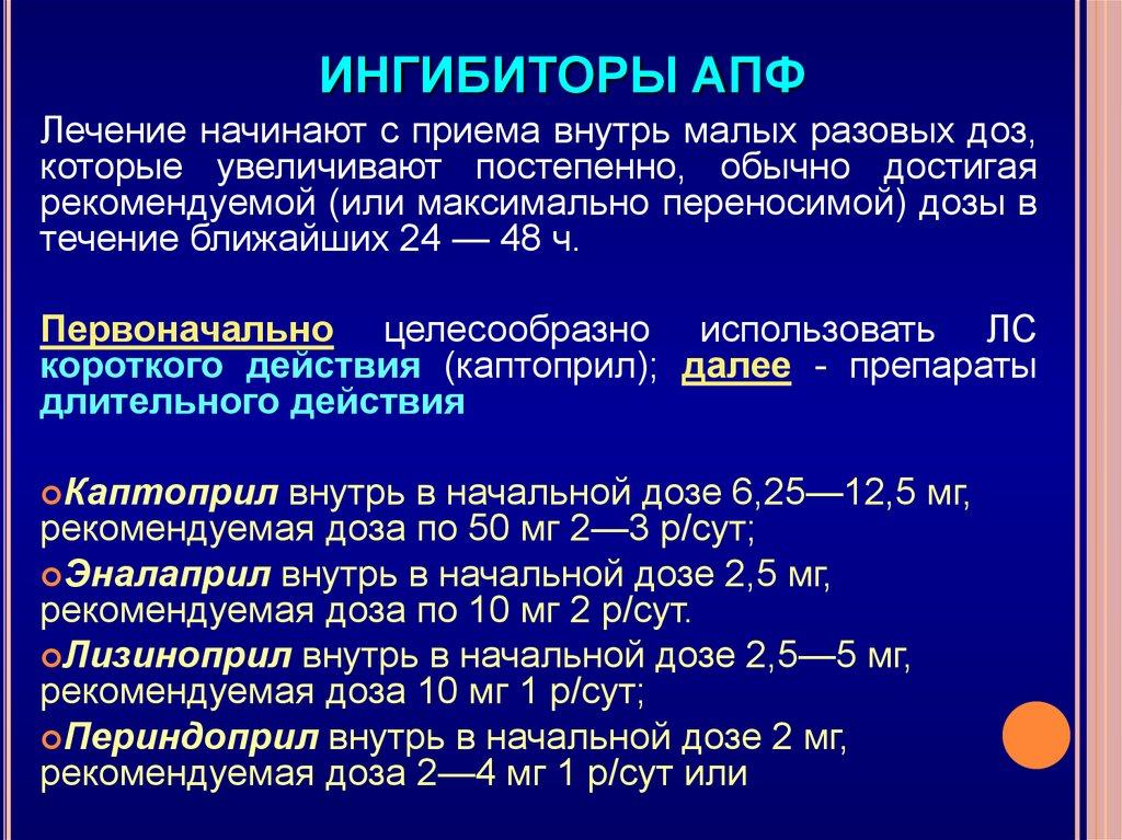 Ингибиторы апф препараты - без гипертонии