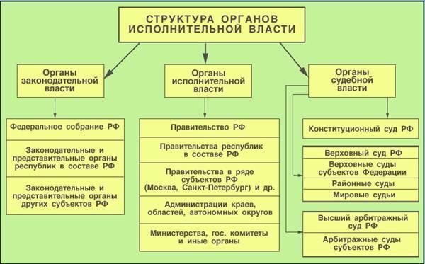 Органы государственной власти: понятие, признаки, виды