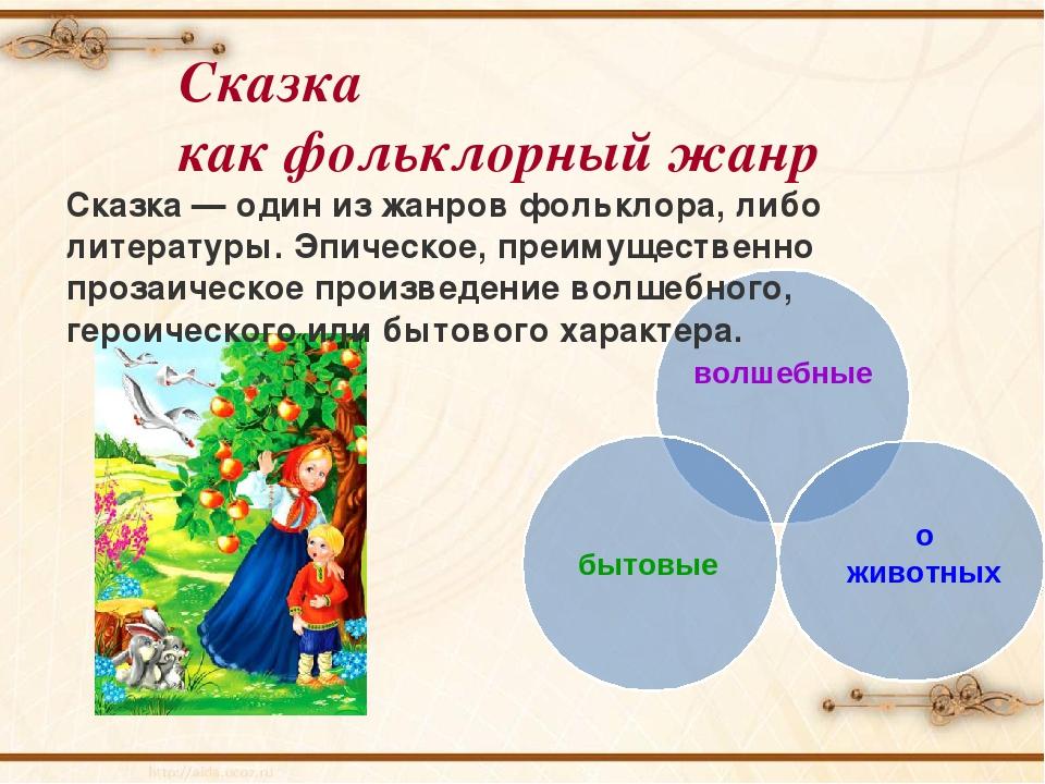 Фольклор. жанры фольклора