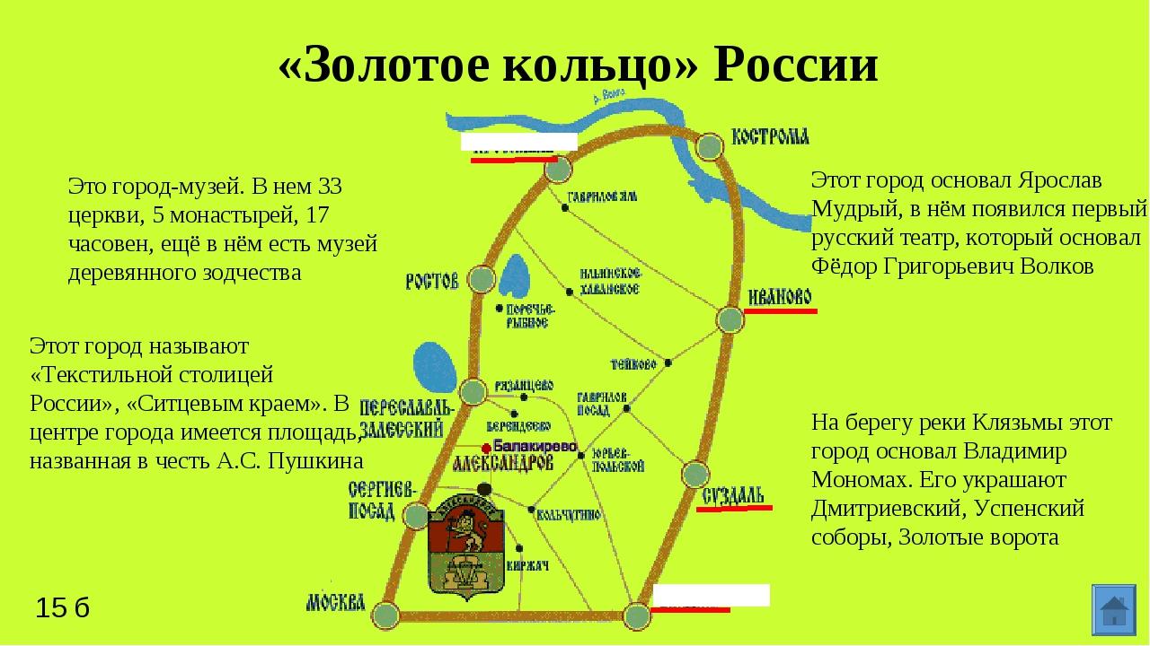 Золотое кольцо россии, россия — туристер.ру