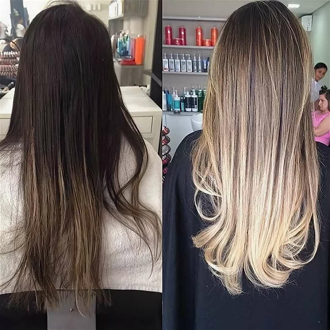 Балаяж на темные короткие, средние и длинные волосы