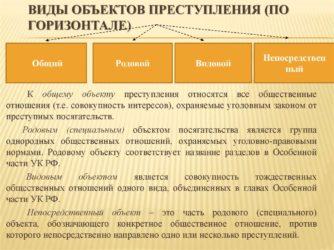 Классификация объектов преступления