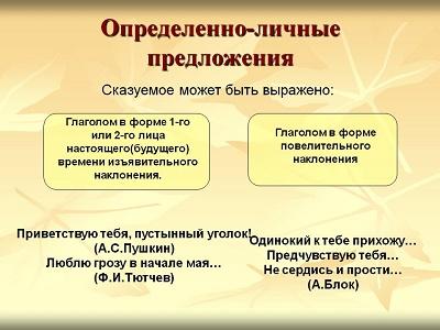 Определённо-личные предложения - это... (12 примеров)