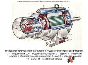 Ротор асинхронного двигателя: устройство короткозамкнутого и фазного ротора
