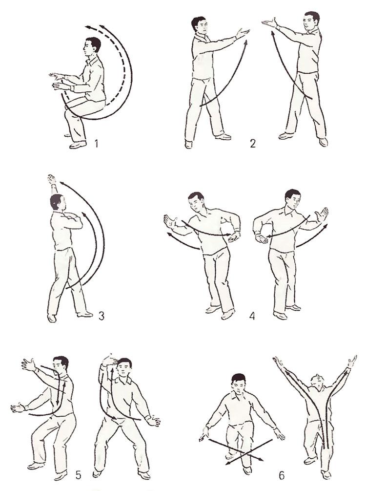 Оздоровительный комплекс упражнений гимнастики цигун для начинающих и пожилых людей: видеоуроки