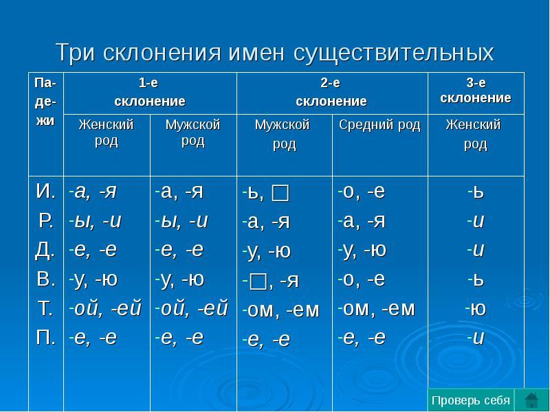 Что такое склонение 1 2 и3. что называется склонением в русском языке? склонение существительных