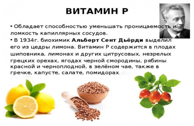 Рутин показания к применению (rutin, витамин p)