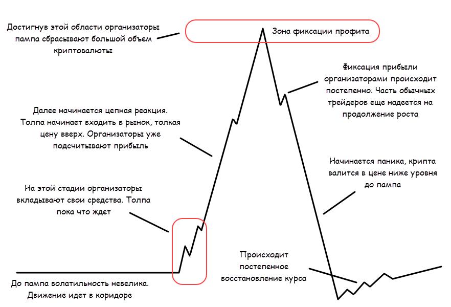 Что такое памп и дамп (pump&dump) на рынке криптовалют?