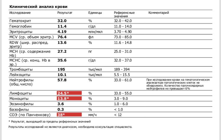 Повышен мснс в анализе крови: причины и расшифровка анализа