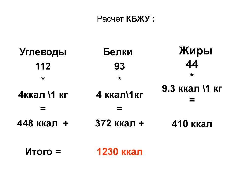 Как рассчитать кбжу на день: 2 формулы для расчета