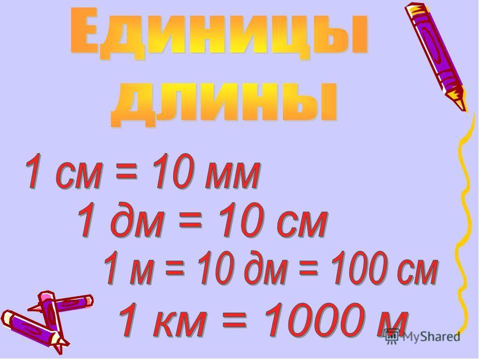 Дециметр / меры длины / справочник по математике для начальной школы