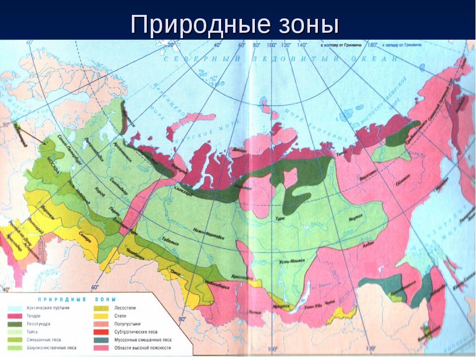 Природные зоны россии (4 класс, окружающий мир)