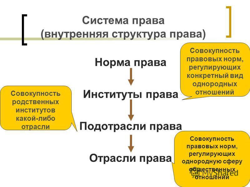 Система права и ее структура