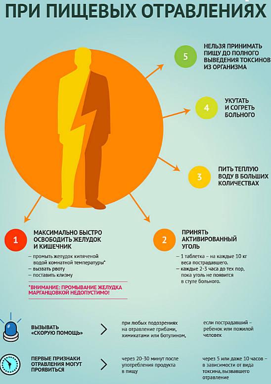 Пищевое отравление: симптомы, лечение, первая помощь, профилактика