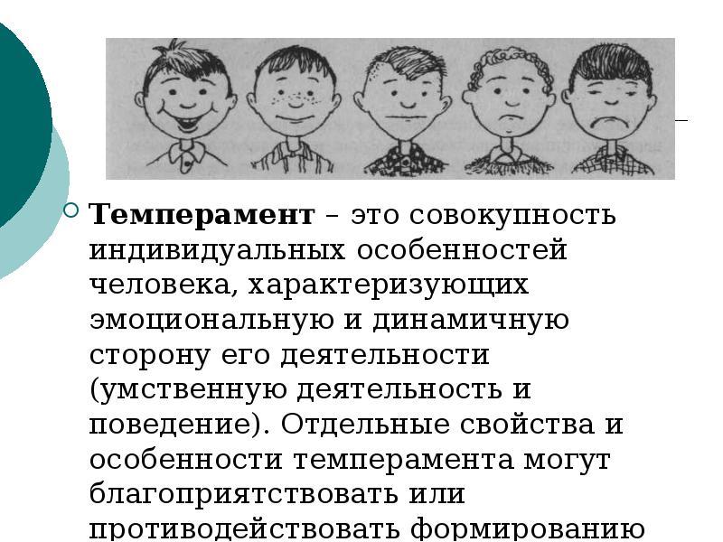 Типы темперамента человека кратко