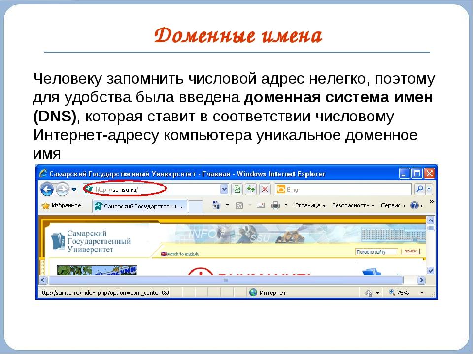 Определение понятия домена в интернете. что такое домен?