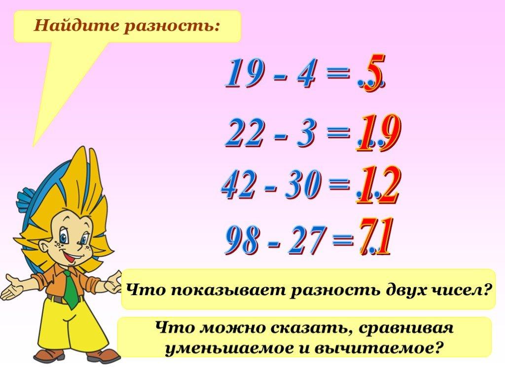 Что такое разность чисел в математике?