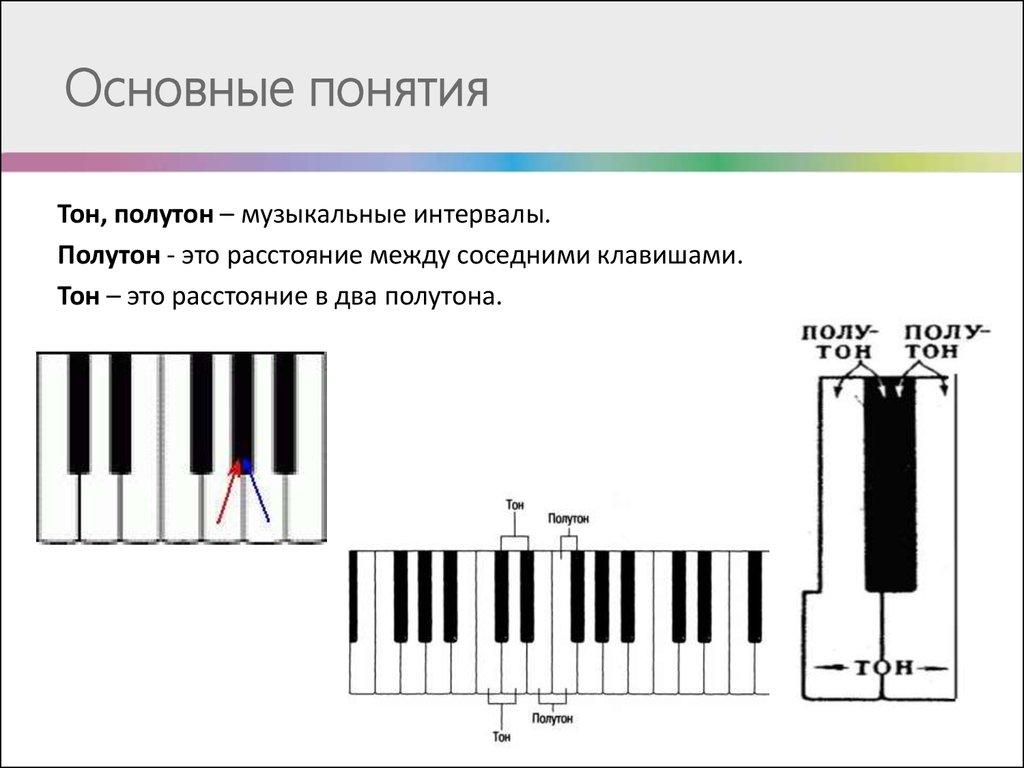 Интервалы, тона, полутона | sound theory