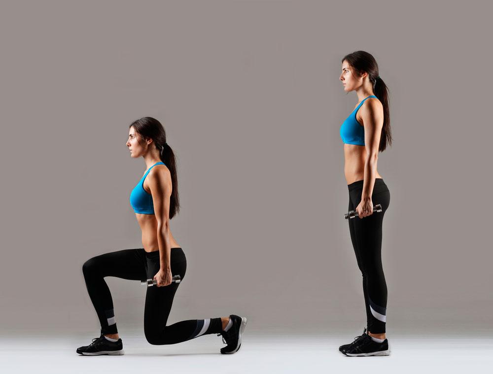 Выпады назад: техника выполнения, какие мышцы работают