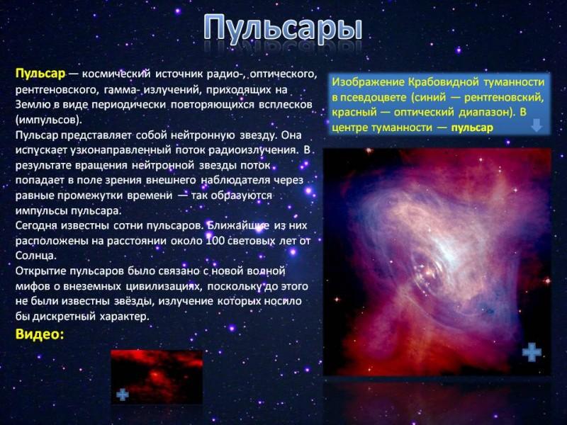 Пульсар | энциклопедия кругосвет
