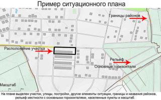 Ситуационные планы для земельных участков и других объектов недвижимости: примеры содержания