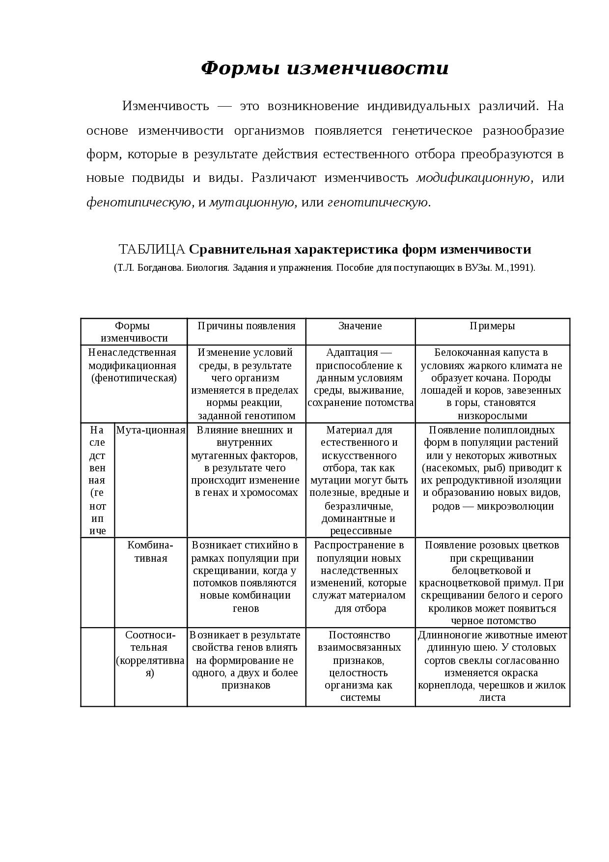 Норма реакций признака. что такое норма реакций?
