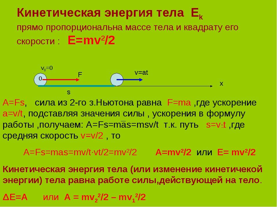Что такое кинетическая энергия
