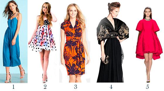 Фасоны платьев: виды, модели, своеобразие, фото модных платьев
