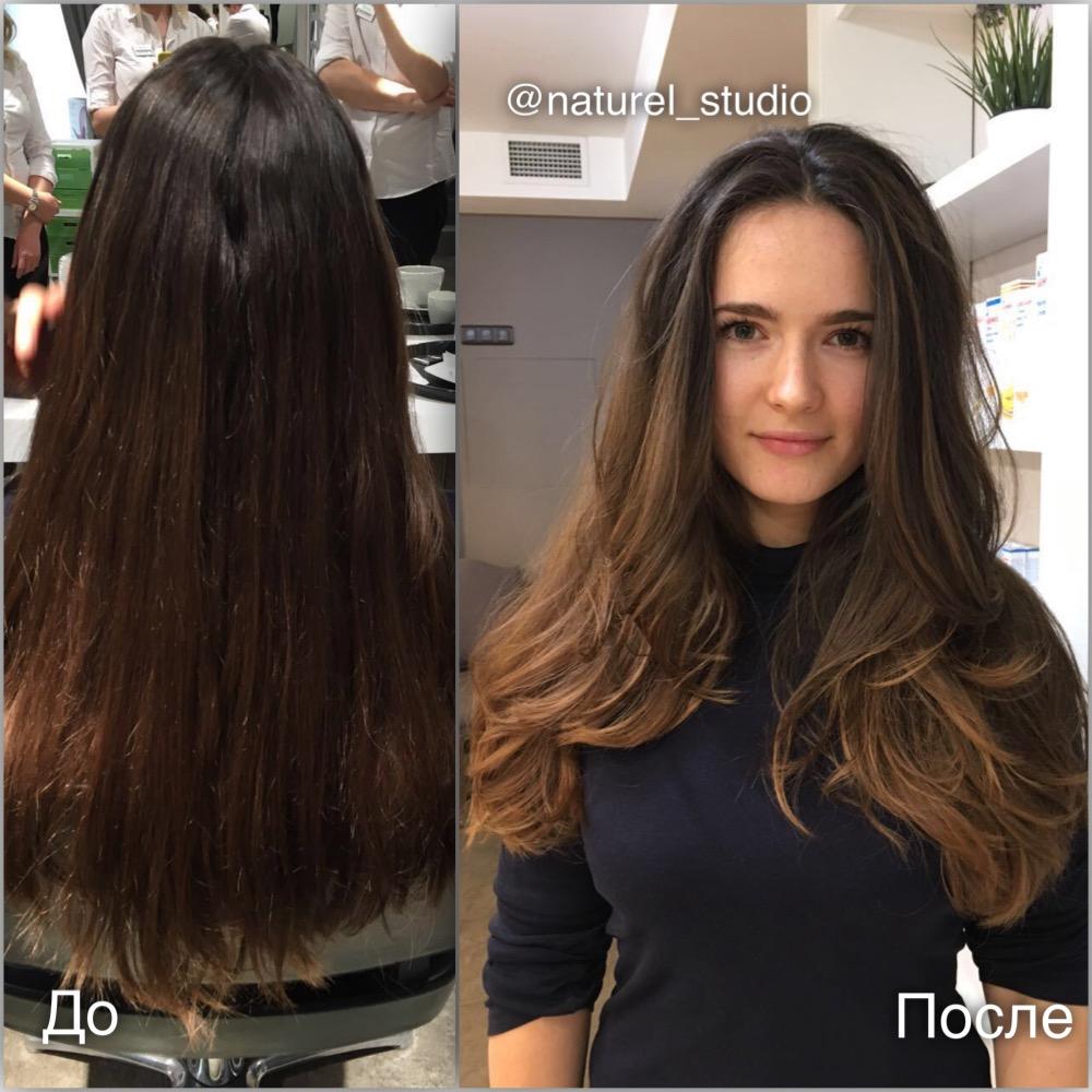 Балаяж на русые волосы: описание и советы по выбору цвета