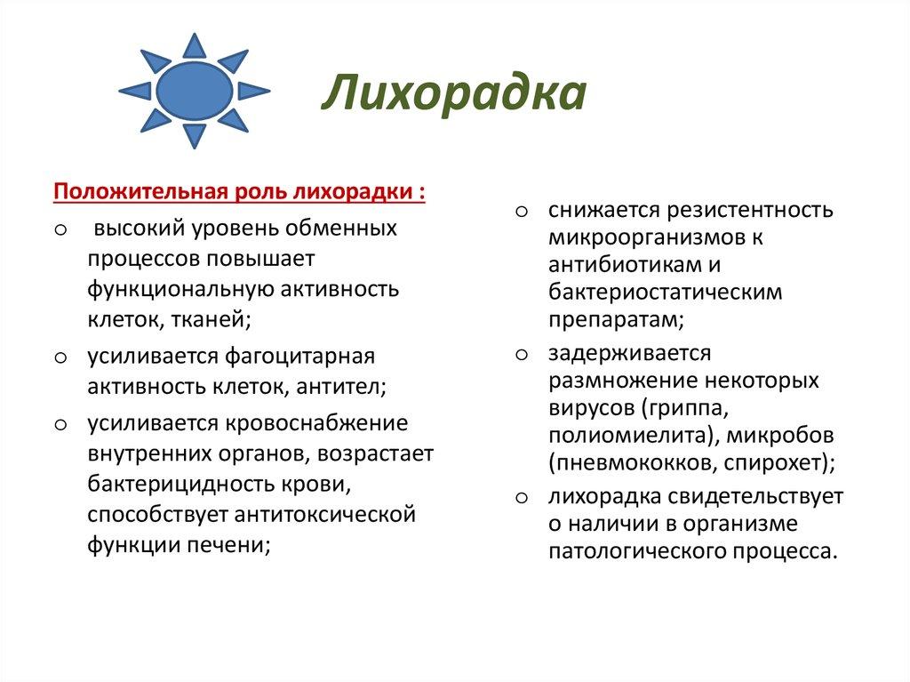 Лихорадка: понятие, развитие, формы, симптомы и течение, диагностика, терапия