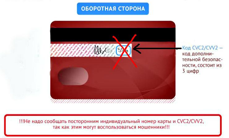 Что такое секретный код безопасности карты cvv2 / cvc2, и где он находится на карточках mastercard и visa
