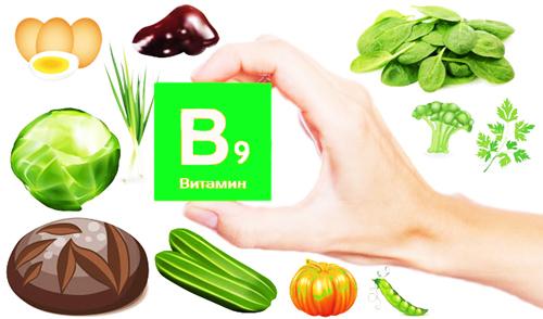Фолиевая кислота – содержание в9 в продуктах питания