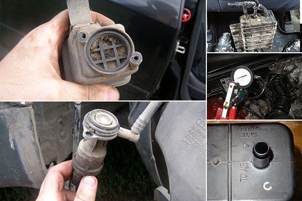 Где стоит клапан абсорбера и для чего нужен клапан продувки