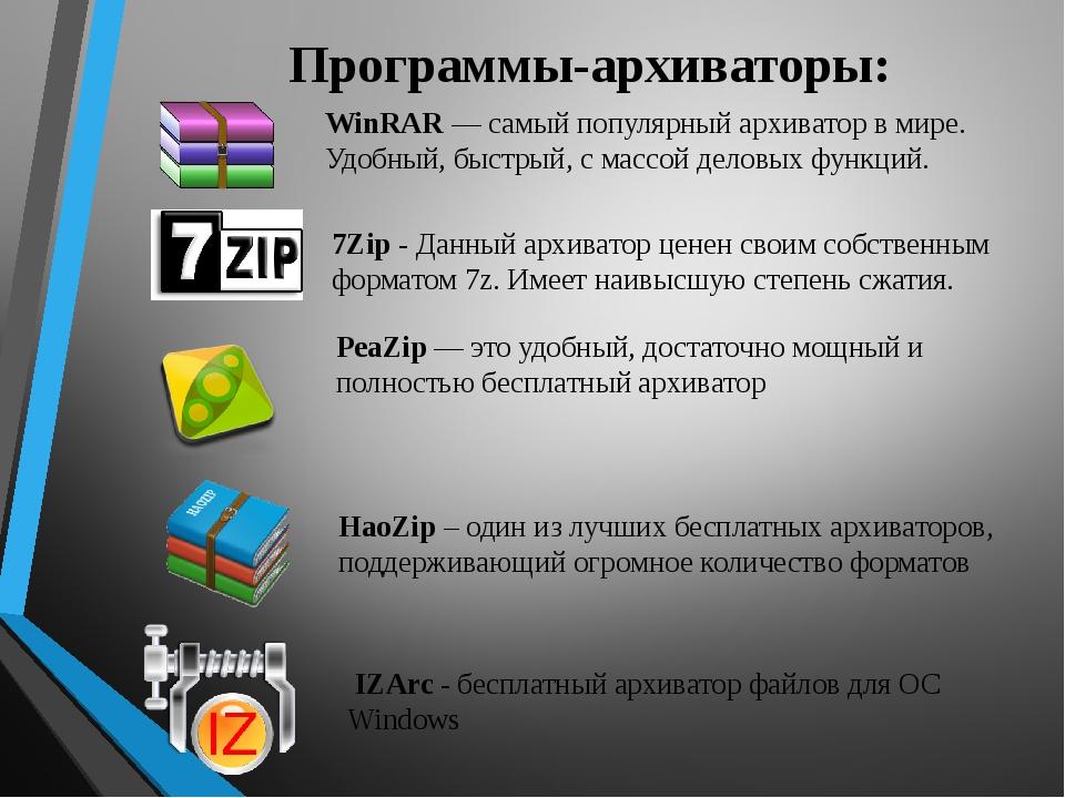 Zip: что это за формат файлов и какие архиваторы существуют?