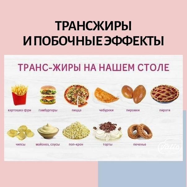 Трансжиры - влияние на организм, в каких продуктах содержатся