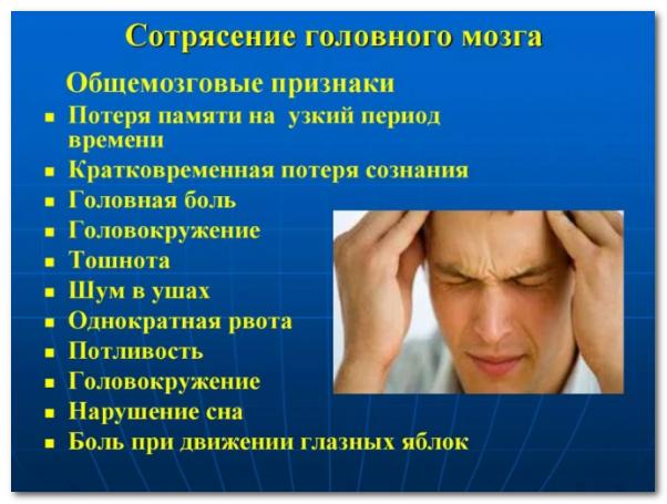 Сотрясение головного мозга: симптомы и признаки, лечение у детей и взрослых